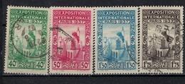 ALGERIE        N°  YVERT    127/130    (1)         OBLITERE       ( O   2/31 ) - Algérie (1924-1962)