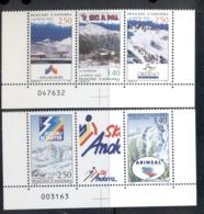 Andorra (Fr) 1993 Skiing In Andorra MUH - French Andorra