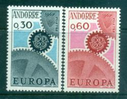 Andorra (Fr)1967 Europa, Cogwheels MUH Lot65430 - French Andorra