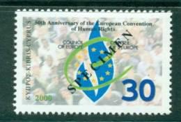 Cyprus 2000 European Convention Of Human Rights SPECIMEN MUH Lot23561 - Cyprus (Republic)