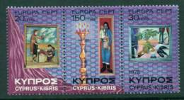 Cyprus 1975 Europa Strip MUH Lot15323 - Cyprus (Republic)