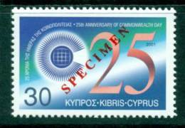 Cyprus 2001 Commonwealth Day SPECIMEN MUH Lot23540 - Cyprus (Republic)