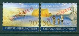 Cyprus 2004 Europa SPECIMEN MUH Lot23533 - Cyprus (Republic)