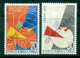 Cyprus 2003 Europa SPECIMEN MUH Lot23554 - Cyprus (Republic)