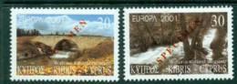 Cyprus 2001 Europa SPECIMEN MUH Lot23538 - Cyprus (Republic)
