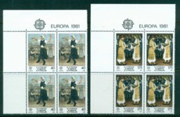 Cyprus 1981 Europa Blk4 MUH - Cyprus (Republic)