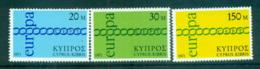 Cyprus 1971 Europa, Chain Through O MUH Lot65530 - Cyprus (Republic)