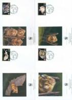 Cyprus 2003 WWF Mediterranean Horseshoe Bat 4x FDC Lot73214 - Cyprus (Republic)