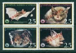 Cyprus 2003 Bats SPECIMEN Block 4 MUH Lot23532 - Cyprus (Republic)