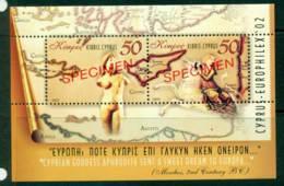 Cyprus 2002 Europhilex MS SPECIMEN MUH Lot23550 - Cyprus (Republic)