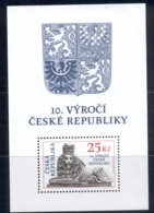 Czech Republic 2003 Czech Rep. 10th Anniv. MS MUH - Czech Republic