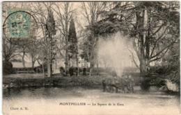 31om 1934 CPA - MONTPELLIER - LE SQUARE DE LA GARE - Montpellier