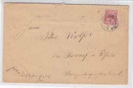 Brief Mit Preussen K 1 MECKENHEIM R.B. Cöln 19.10.92 Handschriftlich BRIEFKASTEN ARZDORF N. HONNEF (Rhein) - Deutschland