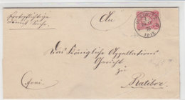 Brief Mit Vorphila K1 GLEIWITZ 10.1.75 Nach Ratibor - Deutschland