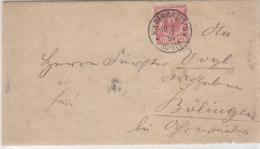 Brief Mit Pr. Vorphila K1 NIEDERBREISIG 10.2.91 Nach Bölingen / Marke Hat Plattenfehler - Deutschland