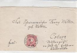 Brief Mit Gr. K1 Aus STAVENHAGEN 29.1.87 Nach Coburg - Deutschland