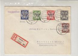 R-Brief Mit 716, 717, 719, 722, 723 Aus DANZIG 13.11.39 Nach Wittlich (Rheinland) - Deutschland