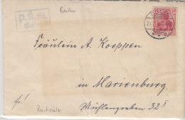 Brief Aus CULM 24.7.16 Nach Marienburg / Durch Post-Überwach.Stelle CULM Zensiert - Rückseite!! Mit Inhalt - Deutschland