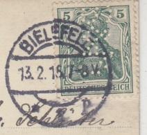 Lochung (Perfin) Fotokarte Aus Einem Lazarett In BIELEFELD 13.2.15 - Deutschland