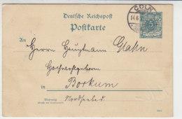 Ganzsache Aus CÖLN 14.6.93 Mit Unterschriften Nach Borkum - Deutschland