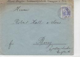 Brief Mit K1 GIENGEN A.d.BRENZ 24.5.05 Nach BURY B. Manchester England - Deutschland