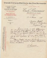 GRANDE CIDRERIE-DISTILLERIE DES CLOS NORMANDS....EMILE LEMONNIER  BEUZEVILLE (EURE)..1916 - Otros