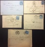S84 Tarn Roquecourbe «Pagès Bosc» Albi «Raynal» Lavaur «Maraval» Castres Castres Sur L'Agout Sage 15c - Postmark Collection (Covers)