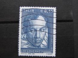 *ITALIA* USATI 2005 - CENT LEO LONGANESI - SASSONE 2834 - LUSSO/FIOR DI STAMPA - 6. 1946-.. Repubblica