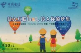 China Telecom Prepaid Cards, Hot Air Balloon , Hengyang City, Hunan Province, (1pcs) - Sport