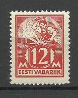 ESTLAND Estonia 1925 Michel 57 IV (dickes Papier) MNH - Estland