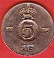 SWEDEN #  5 ØRE FROM 1963 - Suède