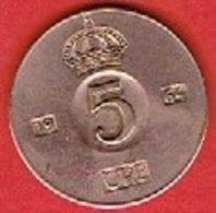 SWEDEN #  5 ØRE FROM 1964 - Suède