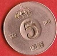 SWEDEN #  5 ØRE FROM 1968 - Suède