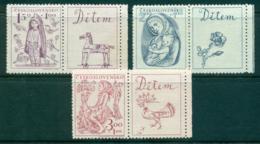 Czechoslovakia 1948 Child Welfare + Labels(gum Inclusions) MLH Lot38126 - Czechoslovakia