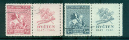 Czechoslovakia 1945 St George & The Dragon + Labels FU Lot69916 - Czechoslovakia
