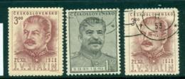 Czechoslovakia 1950 Stalin MLH/FU Lot41145 - Czechoslovakia