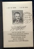 Czechoslovakia 1953 Klement Gottwald MS CTO - Czechoslovakia