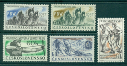 Czechoslovakia 1957 Sports MUH Lot38277 - Czechoslovakia