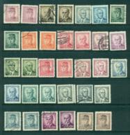 Czechoslovakia 1945-47 Stefanik, Benes, Masaryk Asst MLH Lot41110 - Czechoslovakia