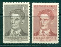 Czechoslovakia 1950 Vladimir Mayakovsky MUH Lot38135 - Czechoslovakia