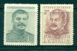 Czechoslovakia 1949 Stalin's Birthday MUH Lot38133 - Czechoslovakia