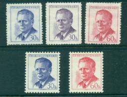 Czechoslovakia 1958 Pres. Novotny & Redrawn (5) MLH Lot38303 - Czechoslovakia