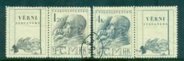 Czechoslovakia 1947 Death Of Masaryk + Labels FU Lot69921 - Czechoslovakia