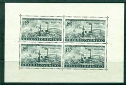 Czechoslovakia 1958 Philatelic Exhibition Brno MS MLH Lot38314 - Czechoslovakia