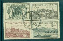 Czechoslovakia 1950 Views Of Prague Blk 4 CTO Lot70514 - Czechoslovakia