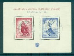 Czechoslovakia 1952 National Philatelic Exhibition, Bratislava MS CTO Lot70516 - Czechoslovakia