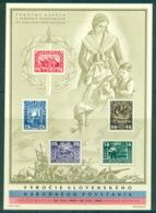 Czechoslovakia 1945 National Uprising Against The Germans MS Card MUH Lot70513 - Czechoslovakia