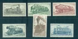 Czechoslovakia 1956 Trains MLH Lot51913 - Czechoslovakia