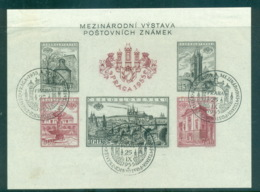 Czechoslovakia 1955 International Philatelic Exhibition, Prague IMPERF MS CTO Lot70528 - Czechoslovakia