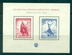 Czechoslovakia 1952 Philatelic Exhibition Bratislava (gum Disturbance)MS MLH Lot38190 - Czechoslovakia